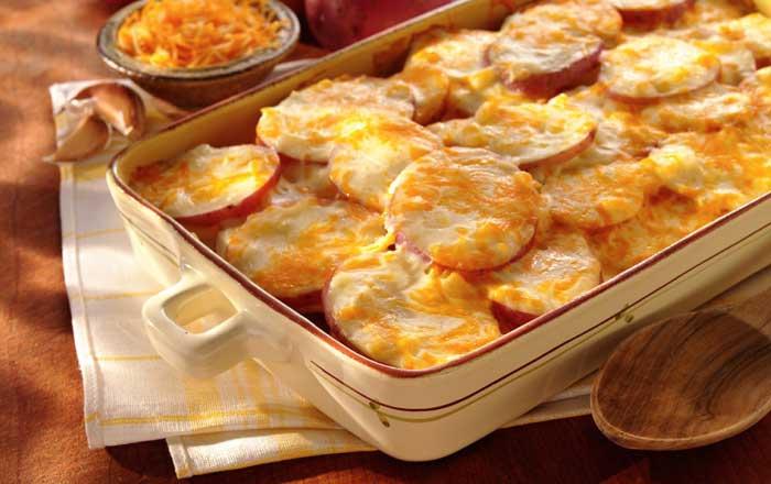 cartofi copti cu branza reteta preparare