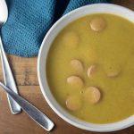 Supa crema de cartofi cu crenvursti