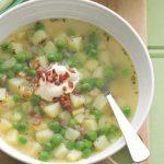 Supa de cartofi cu mazare