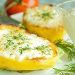 Cartofi umpluti cu branza (reteta dietetica)