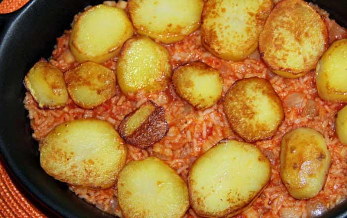 musaca de cartofi cu orez