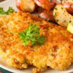 Snitele de pui in crusta de cartofi (reteta cu piept de pui)