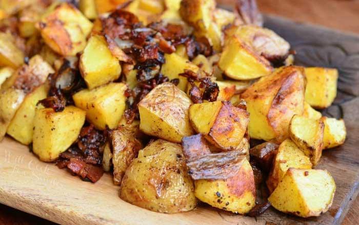 cartofi cu bacon si ceapa